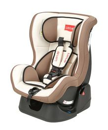LuvLap Sports Convertible Baby Car Seat - Cream & Brown