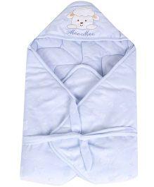 Mee Mee Hooded Blanket Animal Design - Blue