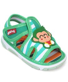 Doink Sandals Monkey Motif - Sea Green