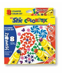 Stic Colorstix Stamper Colour Pens - 8