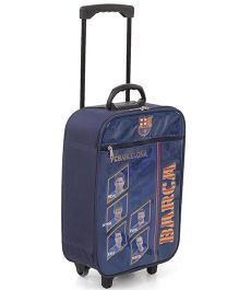 FC Barcelona Luggage Trolley Bag - Blue