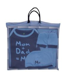 bio kid Infant Cotton Clothing Gift Set Pack Of 5 - Blue
