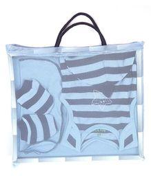 bio kid Infant Cotton Clothing Gift Set Pack Of 5 - Navy
