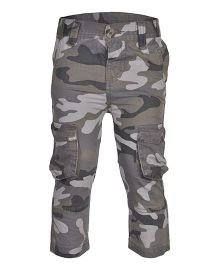 bio kid Full Length Printed Cargo Pants - Green
