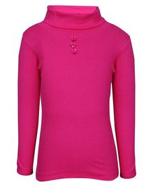 bio kid Full Sleeves Sweat Top Button Design - Pink