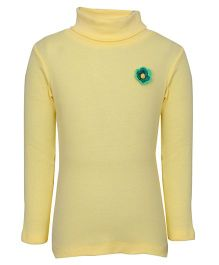bio kid Full Sleeves Sweat Top Floral Applique - Yellow