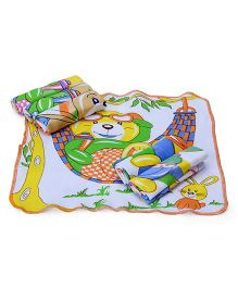 Mee Mee Napkins Teddy Print Set Of 6 - Multicolor