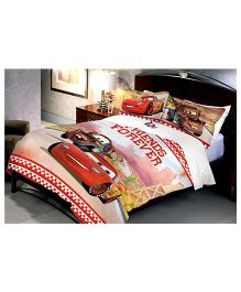Uber Urban Disney Pixar Cars Double Bed Sheet With 2 Pillow Covers - Multi Color