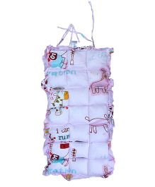 Owen Stroller Pad Giraffe  Print - Pink