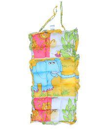 Owen Stroller Pad Elephant Print - Yellow