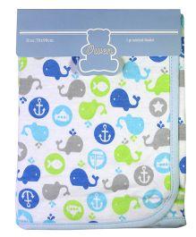 Owen Interlock Blanket Stripes Pattern - Blue
