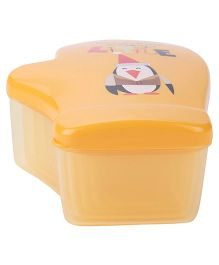 Lunch Boxes Pack of 4 Penquin Print - Orange