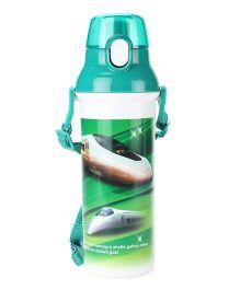Bullet Train Print Sipper Water Bottle Green - 500ml