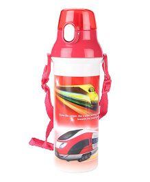 Bullet Train Print Sipper Water Bottle Red - 500ml