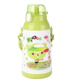 Life I Love U Print Sipper Water Bottle Green - 600 ml