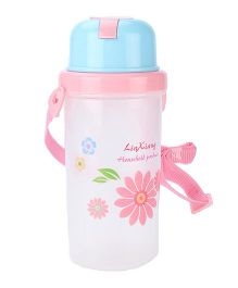 LinXiang And Flower Print Water Bottle Pink - 500 ml