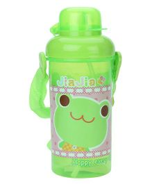 Water Bottle With Straw JiaJia Print - Green
