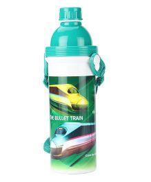 Bullet Train Print Sipper Water Bottle Green - 500 ml
