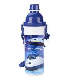 Bullet Train Print Sipper Water Bottle Blue - 500 ml
