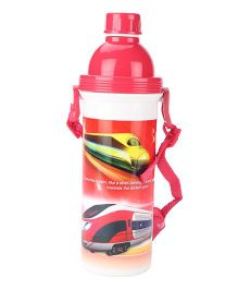 Bullet Train Print Sipper Water Bottle Red - 500 ml