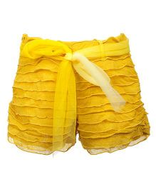 Lil Poppets Ruffle & Bow Shorts - Yellow