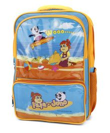 Fafa and Juno School Bag Blue and Yellow - 17 Inches