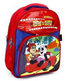 Fafa and Juno School Bag Blue and Red - 14 Inch