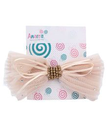 Anaira Barrette Clip with Bow - Beige