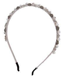 Anaira Hair Band Stone Studded Design - Grey