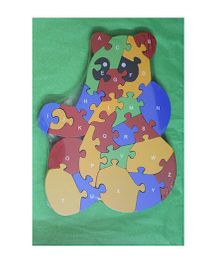 Playthings Bear Shaped Wooden Puzzle