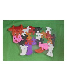Playthings Cow Shape Puzzle