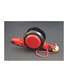 Playthings Pull Along Wooden Snail Toy - Red
