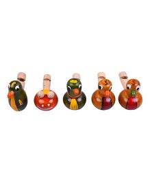 Playthings Wooden Whistle Type 2 Multicolor - Pack Of 5
