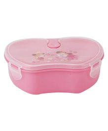 Smile And Flower Print Lunch Box - Pink