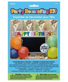 Party In A Box Unique Office Birthday Decoration Kit - Multicolor