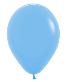 Party In A Box Sempertex  Fashion Pastel Plain Balloon - Blue