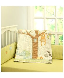 Little West Street Jungle Safari Quilt - Multicolor