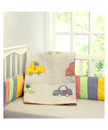 Little West Street Vintage Cars With Kantha Quilt - Multicolor