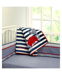 Little West Street Catch Me If You Can Quilt - Blue & White