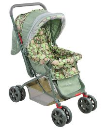 Notty Ride Baby Pram Cum Stroller Green - HWT-0305
