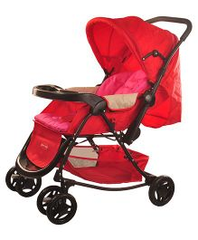 Notty Ride Baby Pram Cum Rocker Red - HWT-0308
