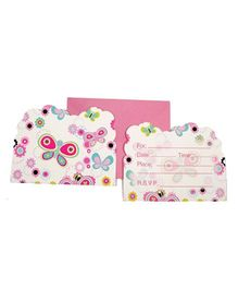 Funcart Flying Butterfly Theme Invitation Cards - Pack of 6