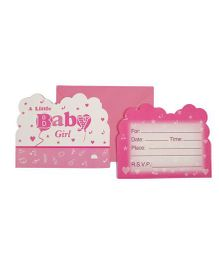 Funcart Little Baby Theme Invitation Cards - Pink