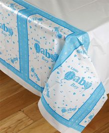 Funcart Little Baby Theme Plastic Cover Sheet - Blue And White