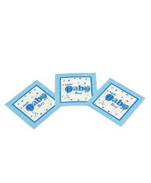 Funcart Little Baby Theme Napkin Blue - Pack of 9