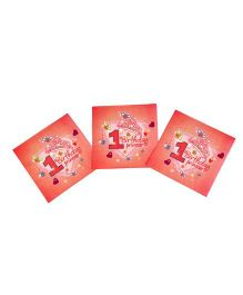 Funcart Sweet At One Princess Theme Napkins - Pack of 9