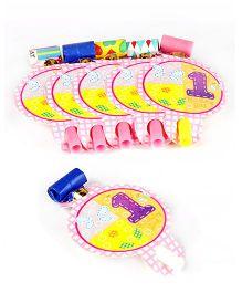 Funcart Fun at 1 Girl Theme Blowouts - Pink And Purple