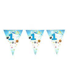 Funcart Sporty At 1 Theme Flag Banner - Blue