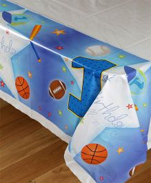 Funcart Sporty At 1 Theme Plastic Cover Sheet - White And Blue