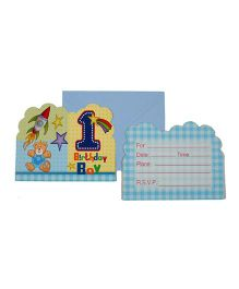 Funcart Fun at 1 Theme Invitation Cards - Pack of 6